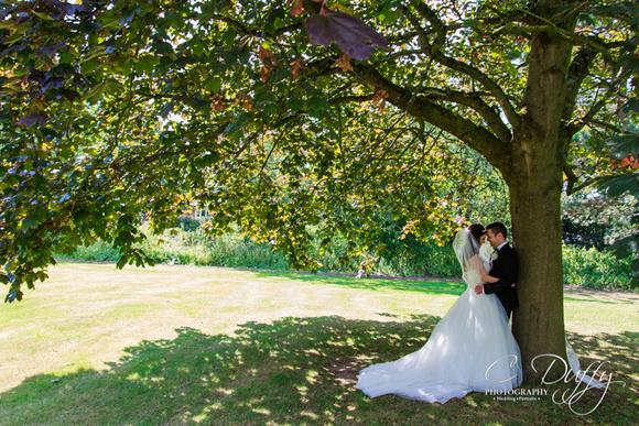 Beautiful Bride and Groom Portraits. Farington Lodge Wedding