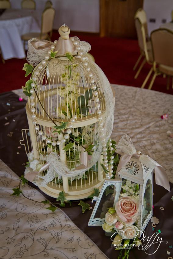 Vintage wedding table decoration