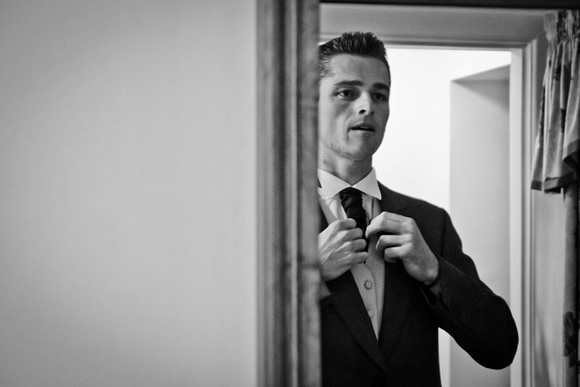 Chorley wedding photographer. Groom preparation.