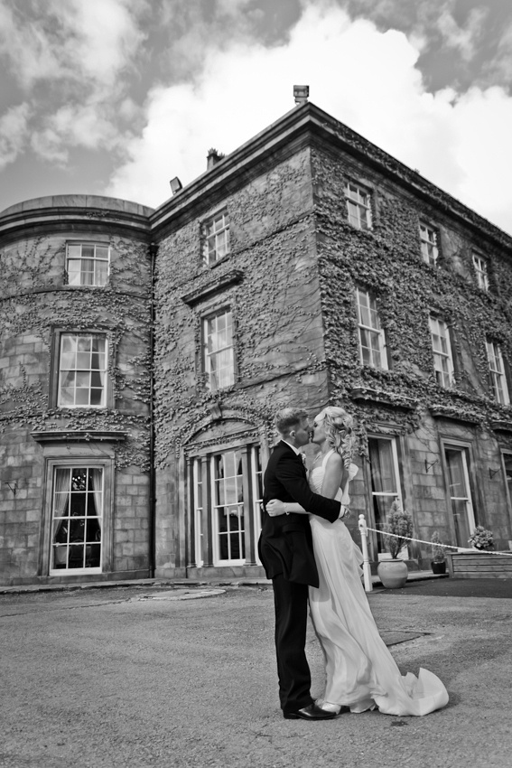 Shaw Hill Hotel Chorley, wedding photography by C Duffy Photography. Bride and Groom Portrait Pose