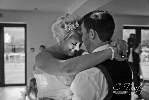 Bride and Groom first dance. Wedding reception at The Fisherman's Retreat.