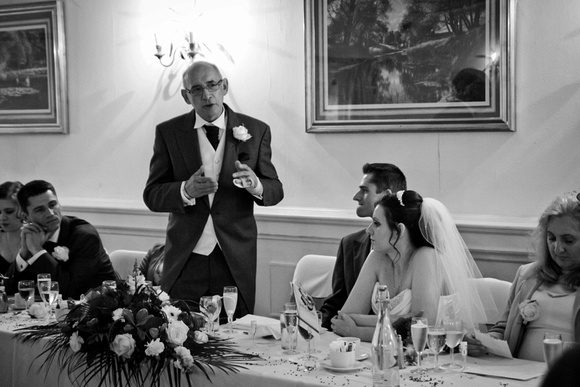 Wedding speech photograph. The Mimosa Suite, Bolton