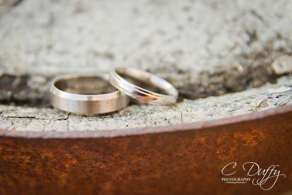 Wedding ring, wedding band. Wedding reception at The Fisherman's Retreat.