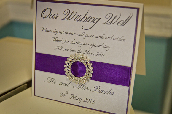 Wedding card wishing well by Samantha Cherish