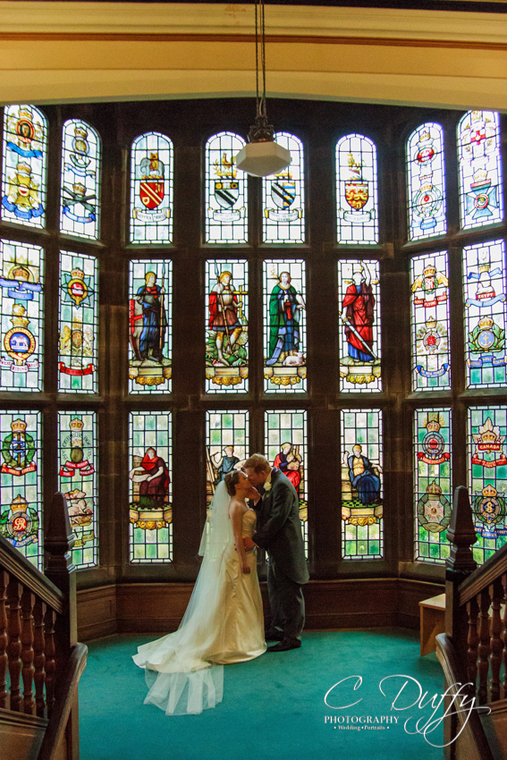 Wedding photographer at Bolton School, Wedding photographs in Bolton School, Bolton School wedding photography, Getting married at Bolton School, Best Bolton School wedding photographs, Bolton School stained glass window, Bolton School staircase