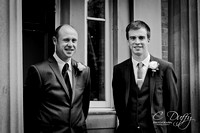 Adam & Sarah - Bolton Wedding - Mere Hall & Last Drop Village - Black & White-127