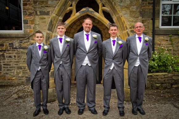 Wedding group photograph
