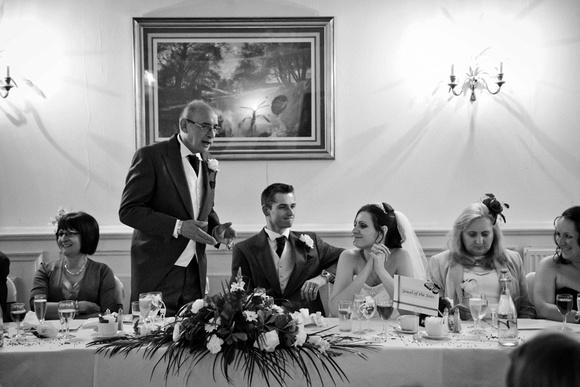 Wedding speech photograph. The Mimosa Suite, Bolton